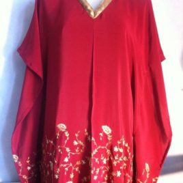 Red Gold Embroidery Kaftan