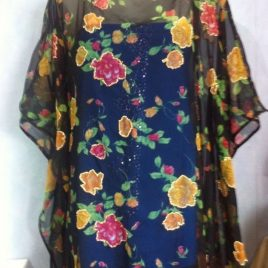 Red Rose Black Kaftan