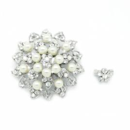 Crystal Pearl Scarf Pins