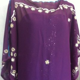 Purple Beady Kaftan