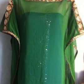 Green Beady Kaftan