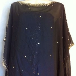 Gold Border Black Kaftan