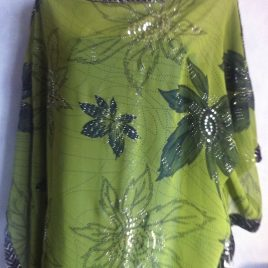 Green Sequin Border Kaftan