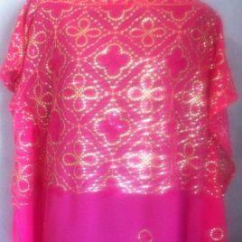 Pink Sequin Kaftan Tunic
