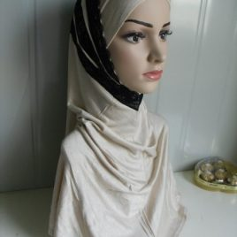 Cream Lace Amira Hijab