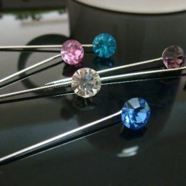 Coloured Stone Hijab Pins