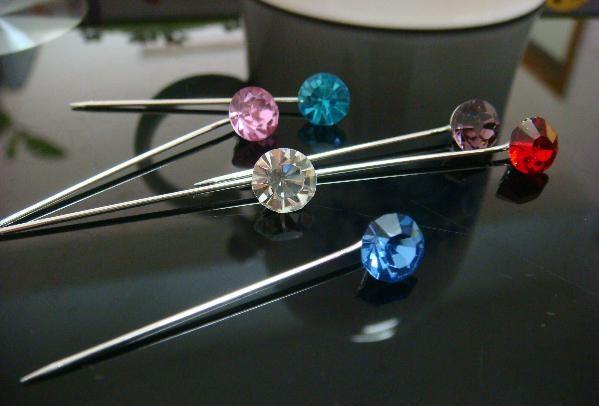 Gemstone hijab pin
