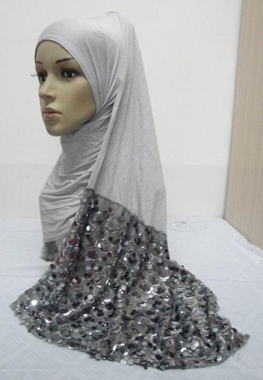 Half Sequin scarf