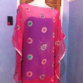 Pink Sequin Kaftan