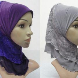 Lace Pull On Hijabs