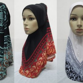Patterned Pull On Hijabs