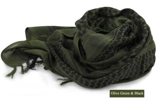 men's scarf green