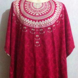 Pink Cotton Kaftan Dress