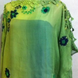 Leaf Beady Kaftan Dress