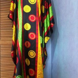 Black Sunflower Kaftan Dress