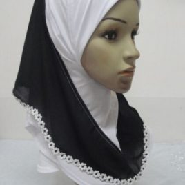 Daisy Border Pull On Hijab