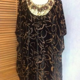 Black & Brown Velvet Kaftan