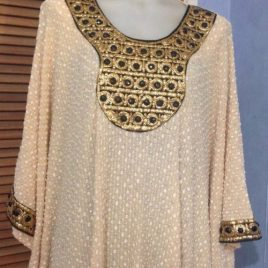 Black Beaded Kaftan Dress