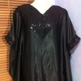Black Sequin Abaya