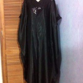 Black Sequin Kaftan Abaya