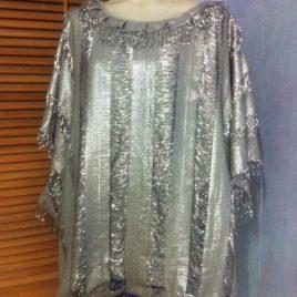 Exclusive Silver Kaftan Top