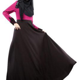 Lace Patchwork Sleeve Abaya
