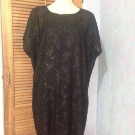 Shiny Black Pashmina Tunic