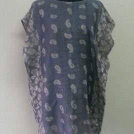 Shiny Blue Pashmina Tunic
