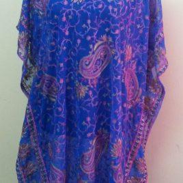 Embroidery Blue Kaftan
