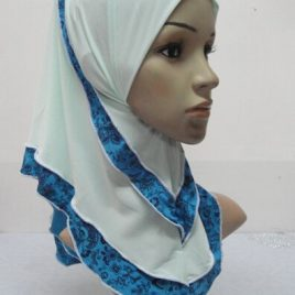 Girl's Flower Print Hijab