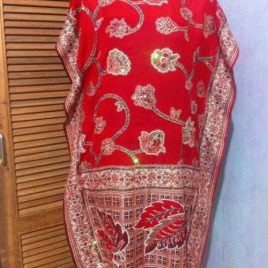 Red Beaded Pashmina Tunic
