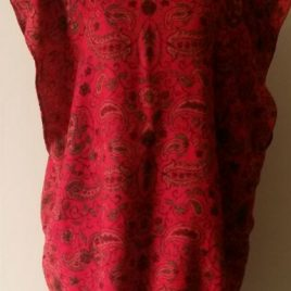 LOVE Red Pashmina Tunic