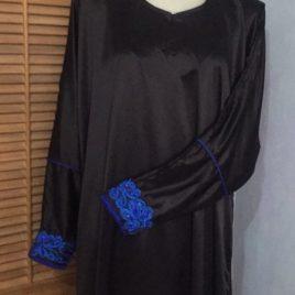 Satin Black Abaya