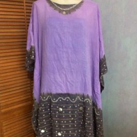 Lilac Batik Kaftan Dress