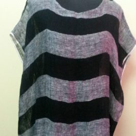 Black Striped Tunic Dress