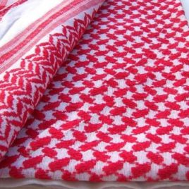 Saudi Red Plaid Scarf