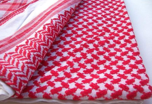 Men's Saudi red plaid scarf