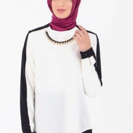 Turkish Chain Neck Blouse