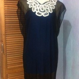 Silver Collar Tunic Dress