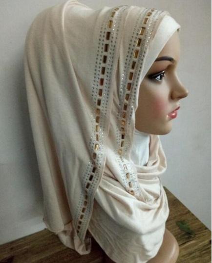 Rhinestone maxi Jersey Hijab scarf