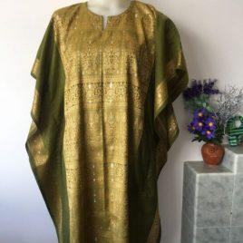 Gold Green Kaftan