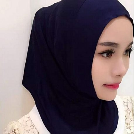 Plain pull on hijab scarf
