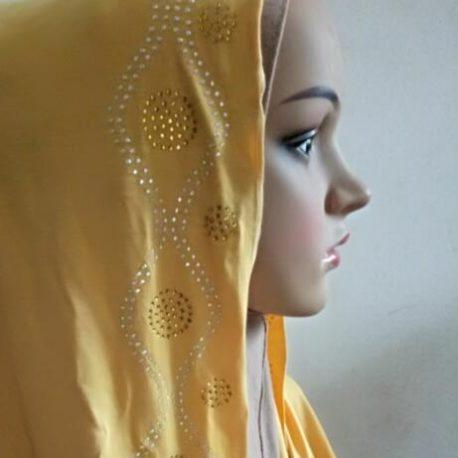 Rhinestone Pattern Jersey Hijab